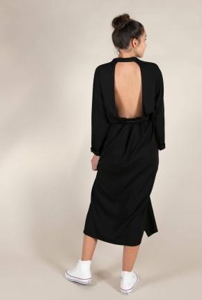 Robe longue Cocker noir