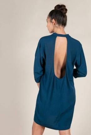 Robe courte Cocker bleu gitane