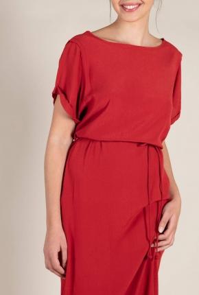 Robe longue Sole rouge velvet