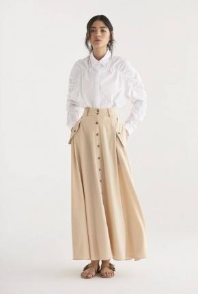 Jupe longue Flo beige