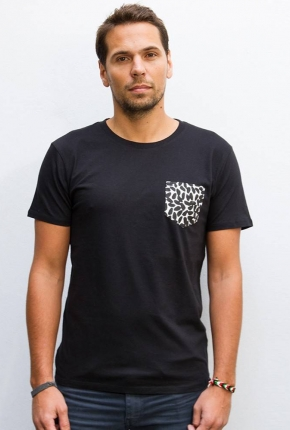 T-shirt unisexe Amok noir