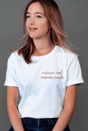 T-shirt femme brodé Maman...