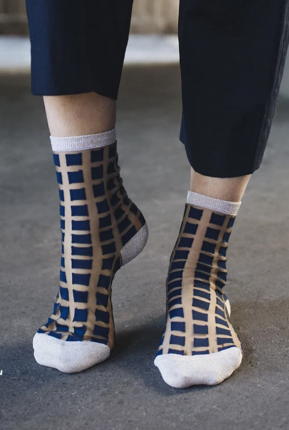 Chaussettes Ginza gold/navy