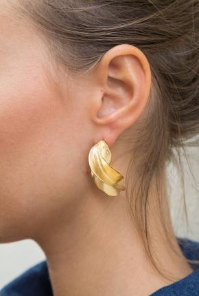 Boucles d'oreilles torsadées