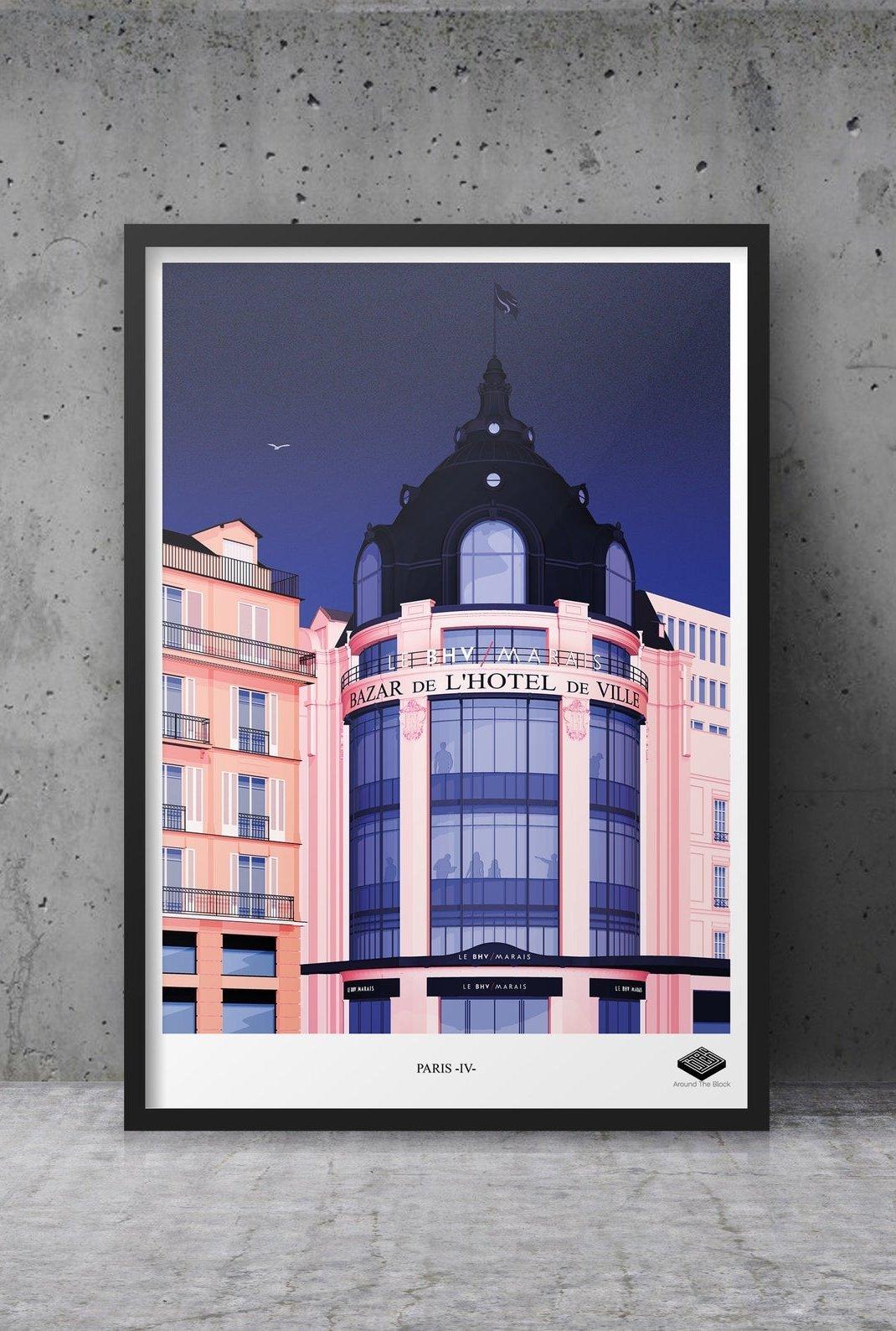 Affiche A3 - Paris IV -...