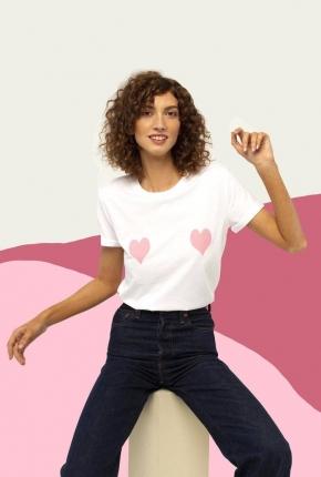 T-shirt cœurs roses Lana
