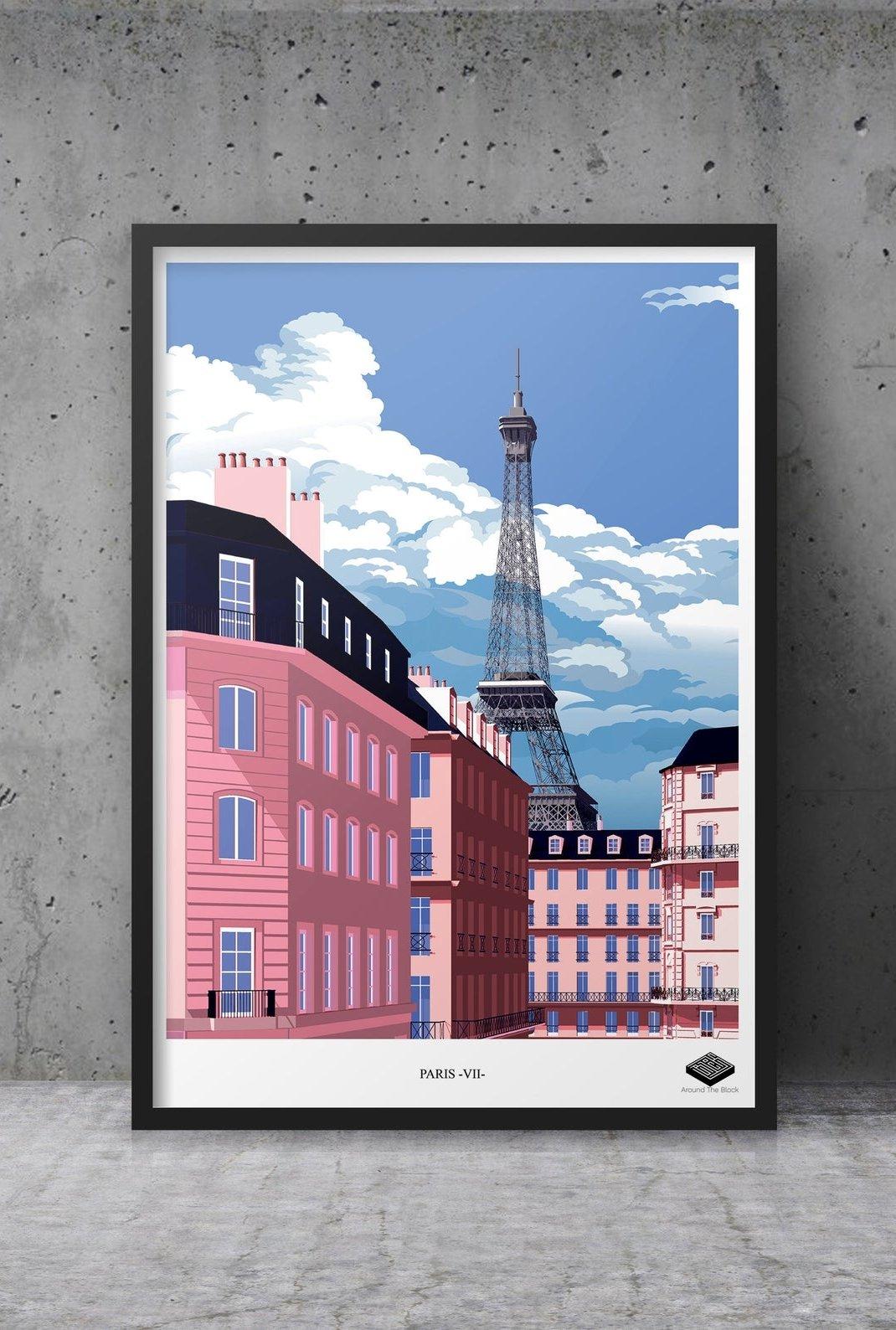 Affiche A3 - Paris VII -...