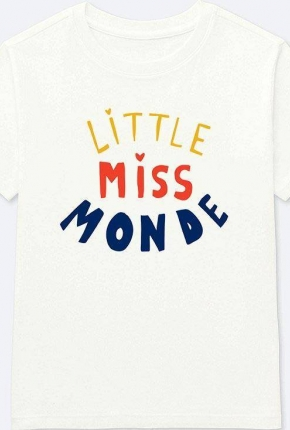 T-shirt Little Miss Monde