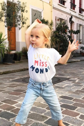 T-shirt Little Miss Monde