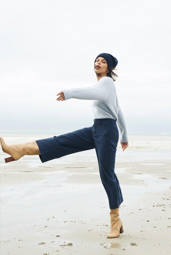 Pantalon Basile bleu marine