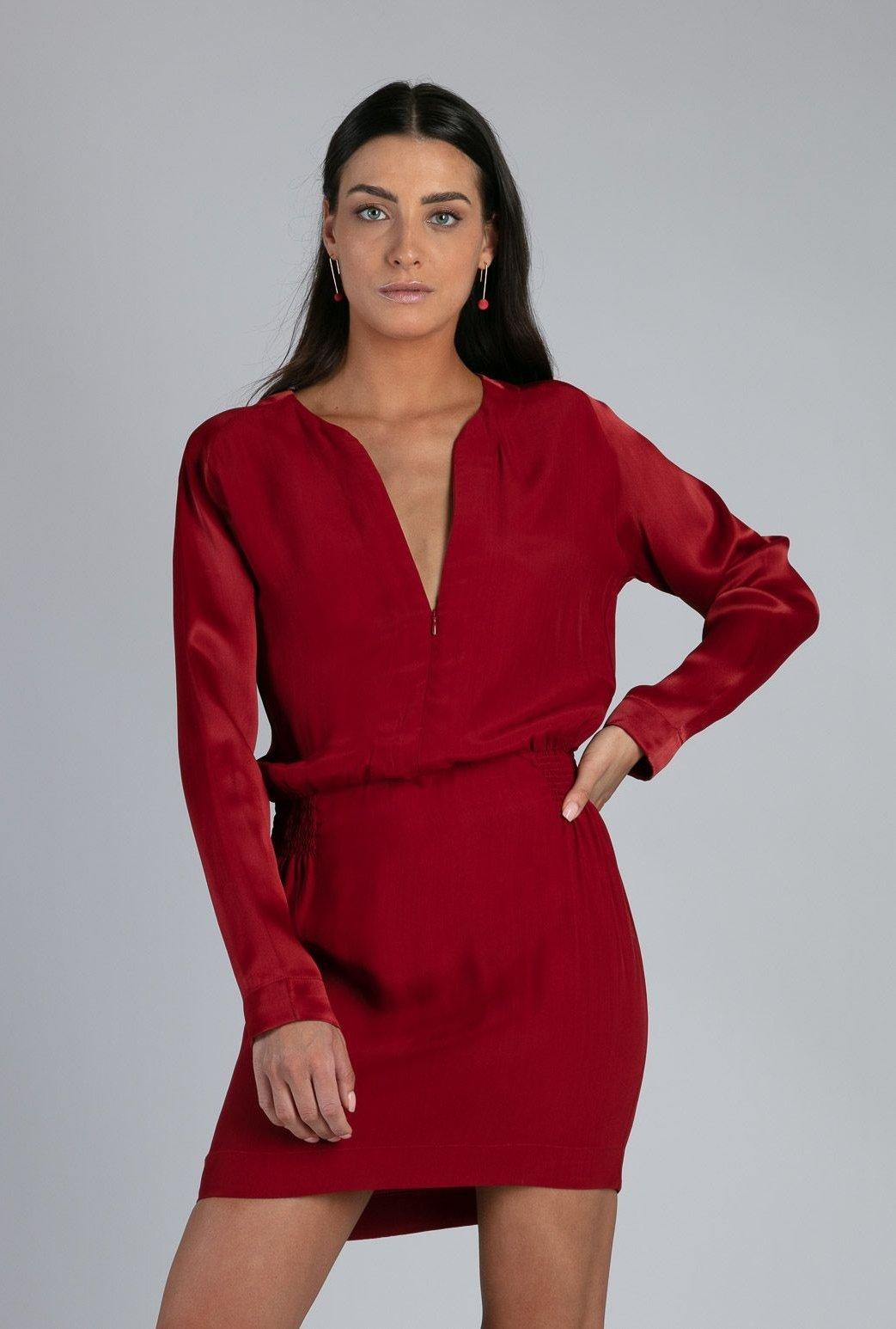 Robe courte Dominique red...