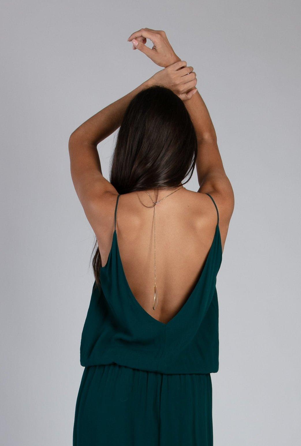 Robe longue Maeva soho green