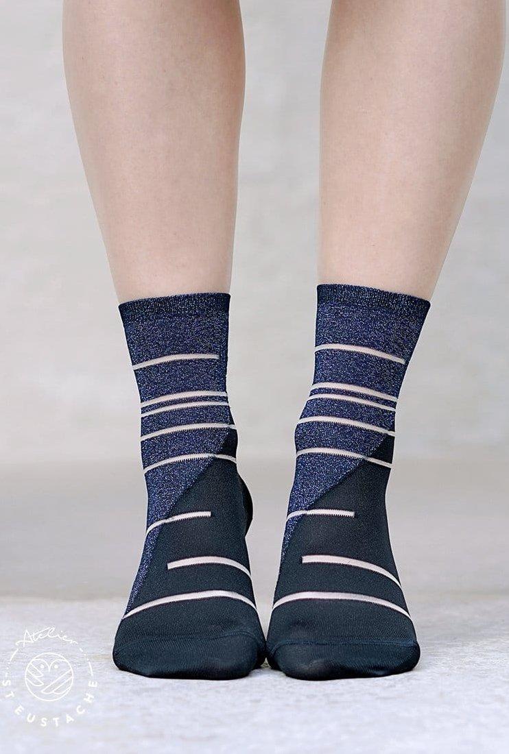 Chaussettes Tate Modern bleu