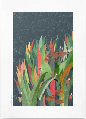 Affiche A4 Les Herbes