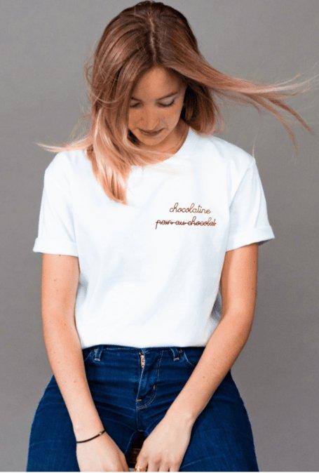 T-shirt unisexe brodé Pain...