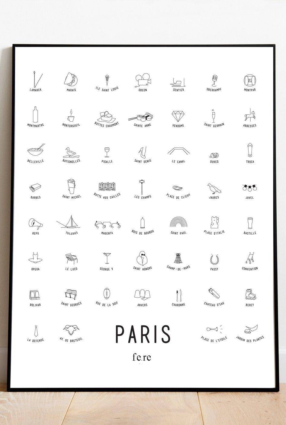 Affiche 40x30 Paris,...