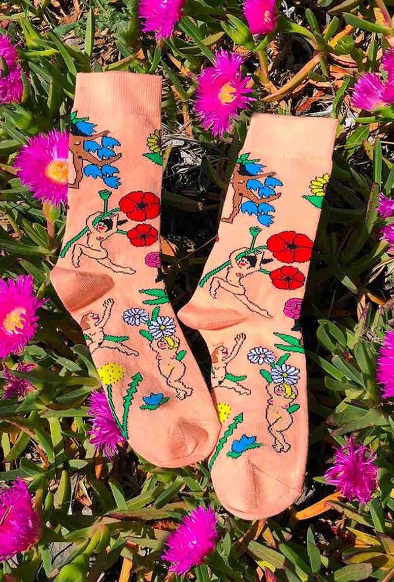 Chaussettes Fiesta Fleurs