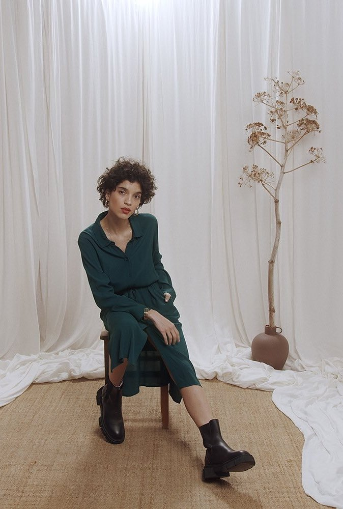 Robe Céline vert