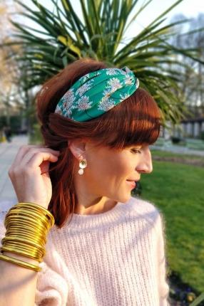 Headband Candice vert fleuri