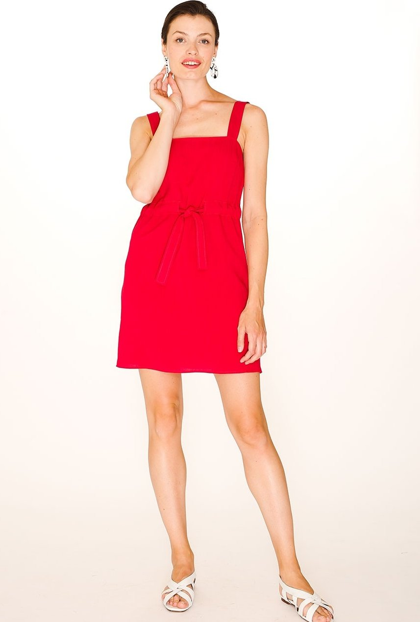 Robe Abril rouge