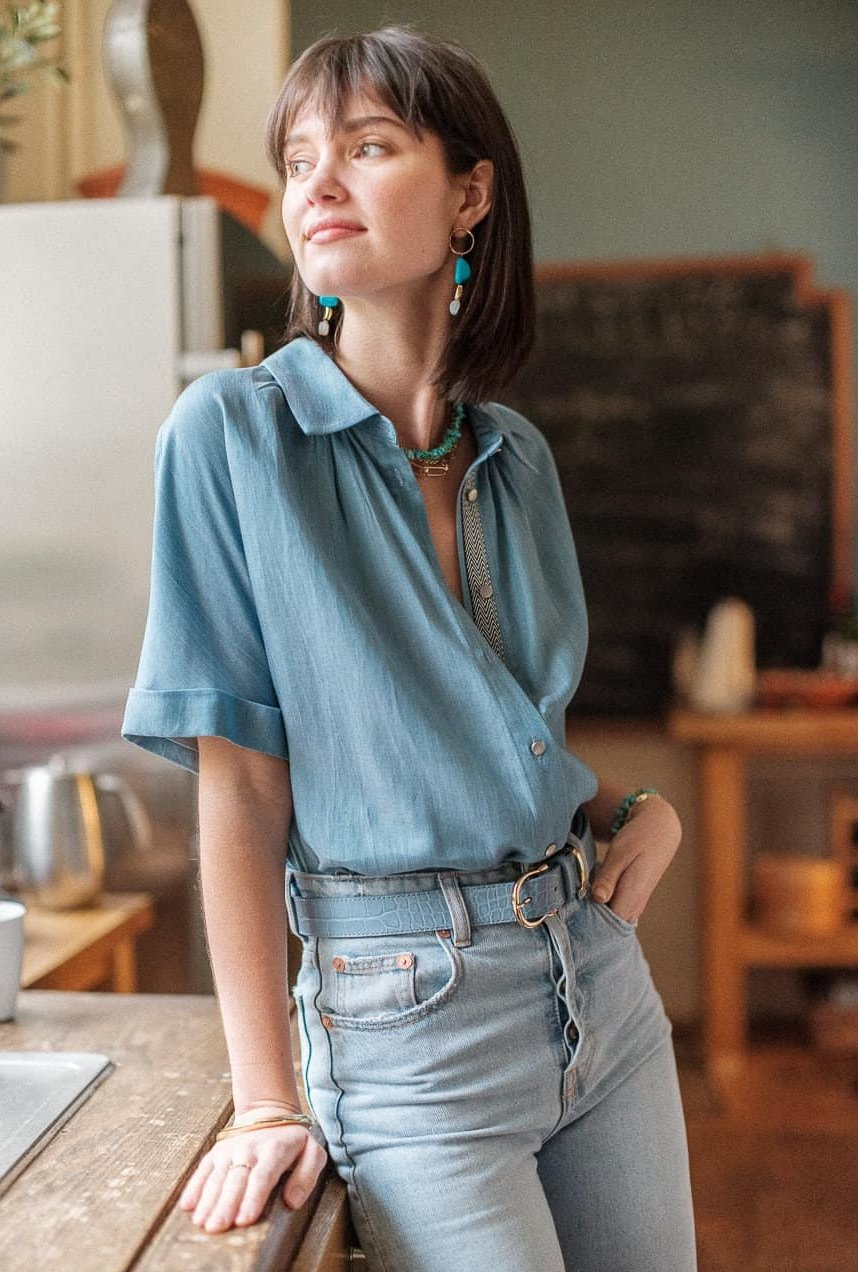Chemise Come bleu jeans