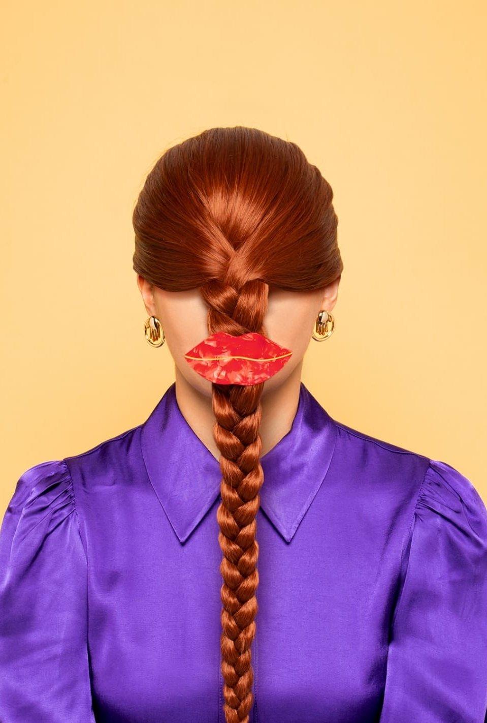 Pince à cheveux Bouche