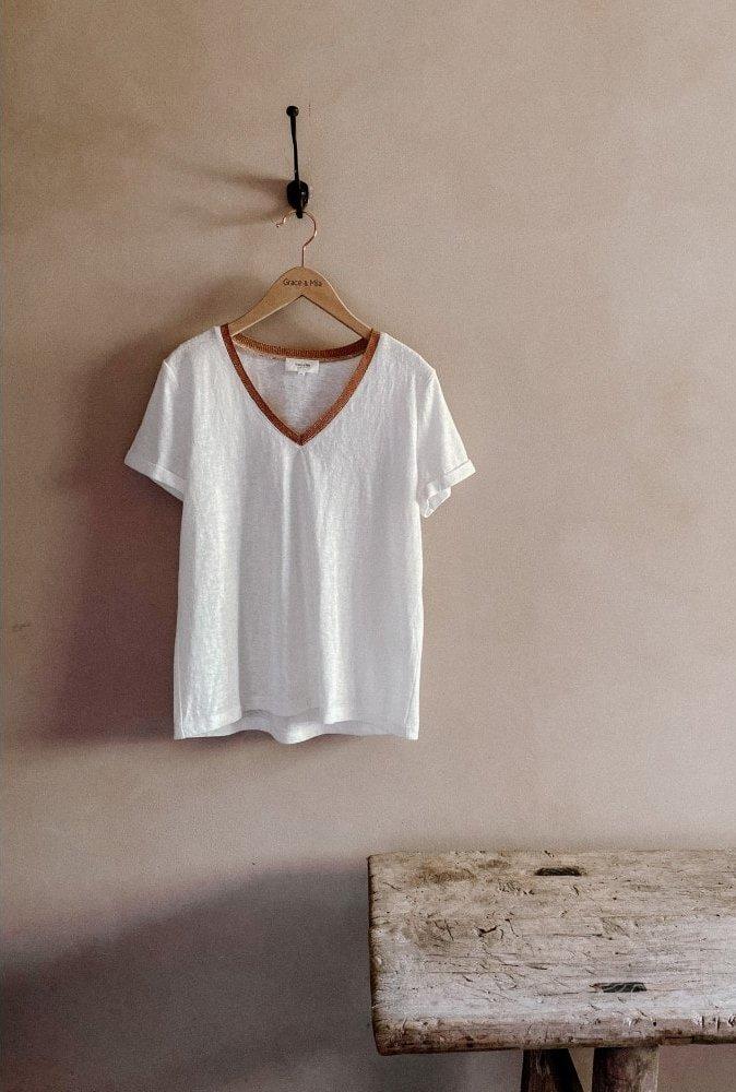 T-shirt Decolis écru