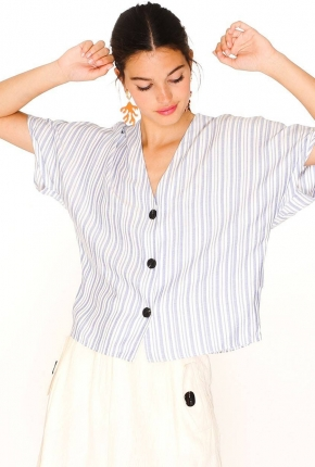 Blouse Blue Stripes
